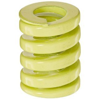 "Die Spring, Extra Heavy Duty, Closed & Ground Ends, Yellow, 25"" Hole Diameter, 12.5"" Rod Diameter, 32"" Free Length, 348.2lbs Spring Rate (Pack of 10)"