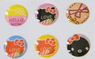Home Button Stickers Hello Kitty 'Love' Faces 6pk For Iphone 5, Iphone 4, Iphone 3 & Ipad (Hbhk 014) Cell Phones & Accessories