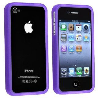 Bumper TPU Rubber Skin Case compatible with Apple iPhone 4 AT&T / Verizon, Purple Cell Phones & Accessories
