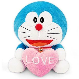 "Nwt Doraemon Plush with Love Heart 12"" Doll Toy Stuffed Animal for Valentine Day Great Gift for Special One Fast Shipping  Health And Personal Care  Baby"