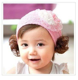Flower Toddlers Infant Baby Girl Princess Headband Hair Band Headwear with hairpiece Love Pink Flower Headband/Headwear Beauty