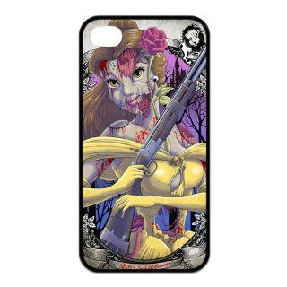Funny Zombie Princess Belle Printed Durable Rubber Iphone 4 4s Case Cell Phones & Accessories