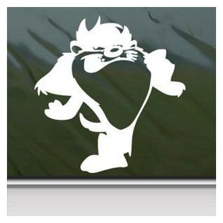 Tasmanian Devil White Sticker Decal Taz White Car Window Wall Macbook Notebook Laptop Sticker Decal