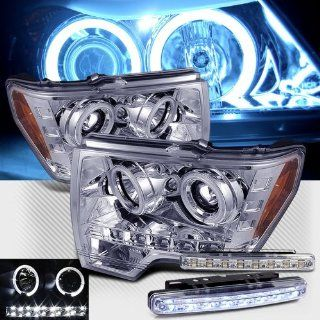 2009 FORD F150 DUAL CCFL HALO HEADLIGHTS PROJECTOR HEAD LIGHTS + 8 LED FOG LAMPS Automotive
