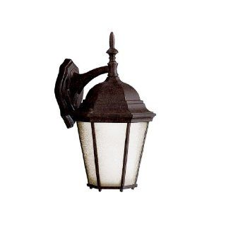 Kichler Lighting 10954WH Madison 1 Light CFL Exterior Wall Lantern with Satin Etched Glass, White Finish   Wall Porch Lights