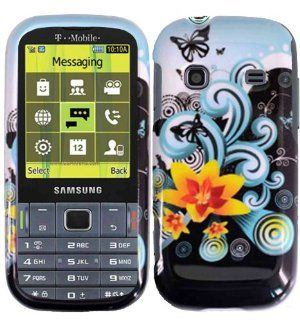 Yellow Lily Hard Case Cover for Samsung Gravity TXT T379 Cell Phones & Accessories