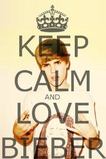 KEEP CALM AND LOVE BIEBER   JUSTIN BIEBER FRIDGE MAGNET   6   Refrigerator Magnets