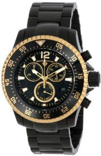 Swiss Legend Men's 10063 BB 11 GA Sergeant Chronograph Black Dial Black Ion Plated Stainless Steel Watch Watches