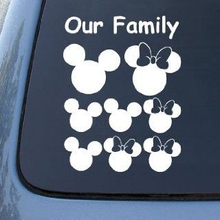 MICKEY EARS FAMILY   Vinyl Car Decal Sticker #A1539  Vinyl Color White Automotive