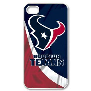 Unique Fashion NFL Houston Texans Customized Hard Plastic DIY Case for iPhone 4 4s Cell Phones & Accessories