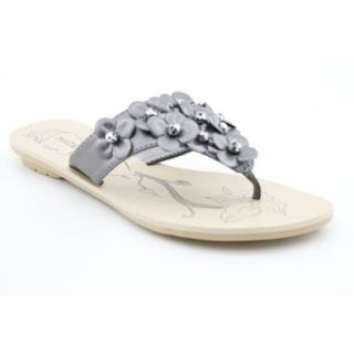 Madeline Stuart Kittie Womens SZ 9.5 Gray New Synthetic Flip Flops Sandals Shoes Shoes