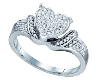 0.20CTW DIAMOND LADIES MICRO PAVE HEART RING Jewelry