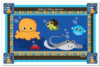 Under The Sea Critters   Personalized Baby Shower Placemats Toys & Games