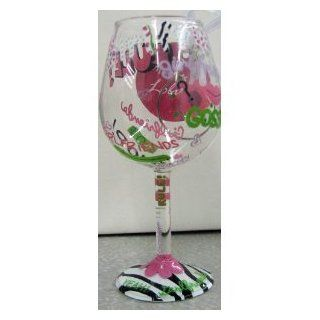 Hallmark Mini Wine Glass Ornament Girlfriends Rule By Lolita   Decorative Hanging Ornaments