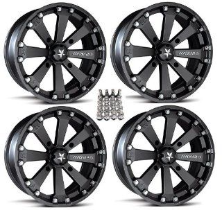 "MSA M20 Kore ATV Wheels/Rims Black 14"" Polaris Sportsman RZR Ranger (4) Automotive"
