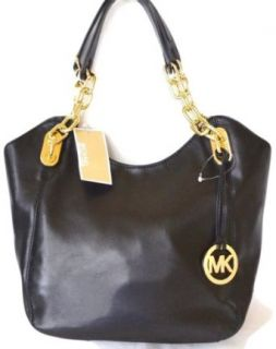 Michael Kors Lilly MD Tote Black Soft Leather Clothing