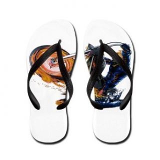 Artsmith, Inc. Women's Flip Flops (Sandals) Flaming Skeleton Skull Riding Flaming Motorcycle Bike Clothing