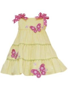Rare Editions Baby girls Infant Seersucker Dress, Yellow, 12 Months Clothing