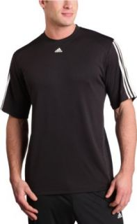 adidas Men's Active360 Short Sleeve,Black/White,Small Clothing