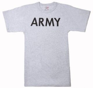 Grey Military ARMY Training T Shirt Clothing