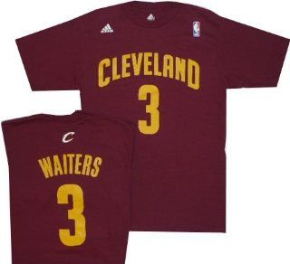 Cleveland Cavaliers Dion Waiters Burgandy Adidas T Shirt (Large)  Apparel  Sports & Outdoors
