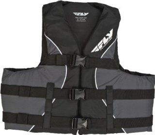 Fly Racing Life Vest , Gender Mens/Unisex, Primary Color Black, Size 3XL, Distinct Name Black/Gray, Size Modifier 60 70in. 46742787 3XL BLK Automotive