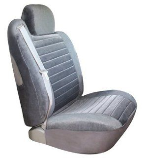 Saddleman Custom Fit Front Bucket Seat Covers   Windsor Velour Fabric (Gray) Automotive