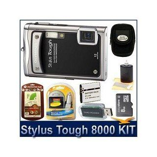 Olympus Stylus Tough 8000 12MP 2.7 LCD Digital Camera (Black) Sensible Mega Bundle Camera & Photo