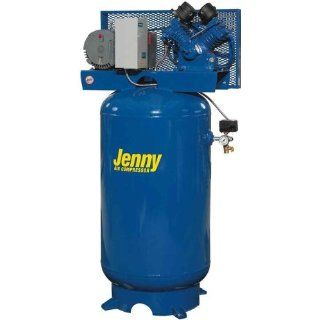 Jenny GT5B 80V Two Stage Vertical Electric Stationary Compressor with GT Pump, 80 Gallon Tank, 1 Phase, 5 HP, 230V