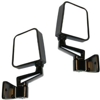 Jeep Wrangler Manual Black Side View Mirrors Pair Set Left Driver AND Right Passenger (1994 94 1995 95 1997 97 1998 98 1999 99 2000 00 2001 01 2002 02) Automotive