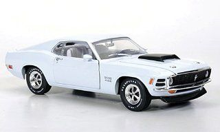 Ford Mustang Boss 429, light grey , 1970, Model Car, Ready made, M2 Machines 124 M2 Machines Toys & Games