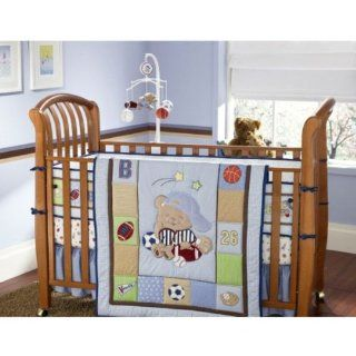 Small Wonders Varsity Teddy Bear 4 Piece Bedding Set Baby