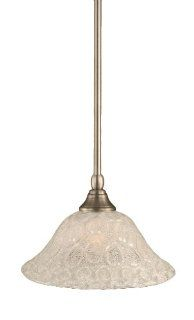 Toltec Lighting 23 BN 431 Stem Mini Pendant Light Brushed Nickel Finish with Italian Bubble Glass, 10 Inch