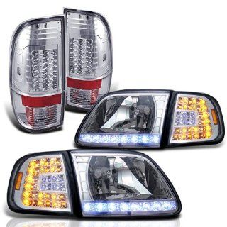 Rxmotoring 2000 Ford F550 Headlights Led Lamps + F 550 Taillights Automotive