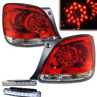 2001 2005 LEXUS GS300/430 LED TAIL LIGHTS RED CLEAR REAR BRAKE LAMPS +DRL BUMPER Automotive