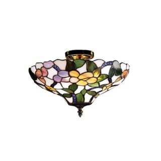 Dale Tiffany Peony Semi Flush Mount