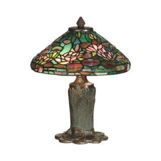 Dale Tiffany Floral Leaf Tiffany 2 Light Table Lamp