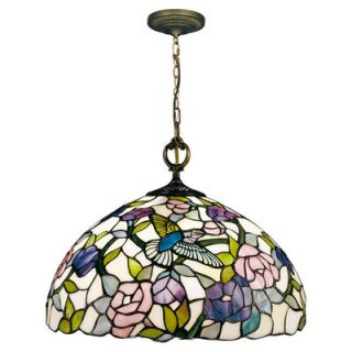 Dale Tiffany Nature Hummingbird 1 Light Pendant