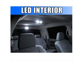 Bright White 8pc LED Lights Interior Package Kit for Ford Escape 2008 2012
