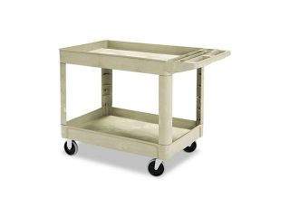 Rubbermaid Commercial 452088BG Heavy Duty Utility Cart, 2 Shelf, 25 7/8w x 45 1/4d x 33 1/4h, Beige