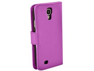 Flip Wallet Leather Case Cover Fits SAMSUNG GALAXY S4 IV i9500 (Purple)