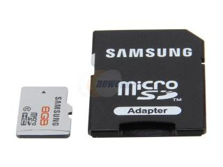 SAMSUNG 8GB microSDHC Extreme Speed Plus Flash Card Model MB MP8GA/US