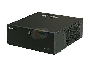 SILVERSTONE Black Aluminum / Steel Grandia Series SST GD07B ATX Media Center / HTPC Case