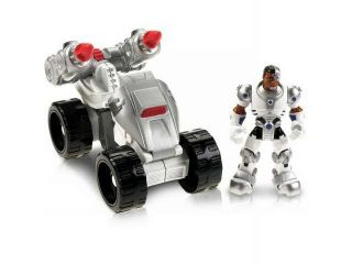 Fisher Price DC Super Friends Hero World Cyborg & ATV Action Figure Set and DVD