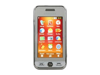 "Samsung Star Silver Unlocked GSM Touch Screen Phone w/ 3.2MP Camera / 3"" Touch Screen (S5230)"