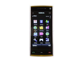 Nokia X6 White / Yellow Unlocked GSM Touch Screen Phone with 5.0 MP Camera