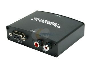 Cables Unlimited   Pro A/V Series VGA & Stereo Audio to HDMI (VGA + R/L Audio)