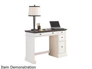 Home Styles 5002 794 Traditions White Utility Desk with a Black Granite Top