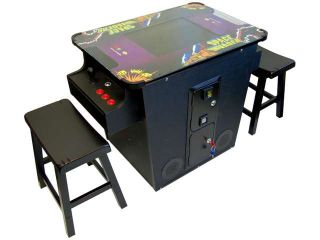 Retro Cocktail Arcade Machine 412 in 1 All the Classic Games Includes 2 Benches Comes w/ Space Invaders Galaga Frogger Donkey kong Pacman Dig Dug & So much more. Brand New Commercial Grade Machine
