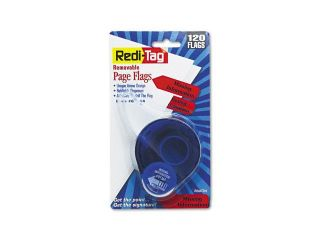 "Redi Tag                                 Arrow Message Page Flags in Dispenser, ""Missing Information"", Red,120 Flags/Pack"